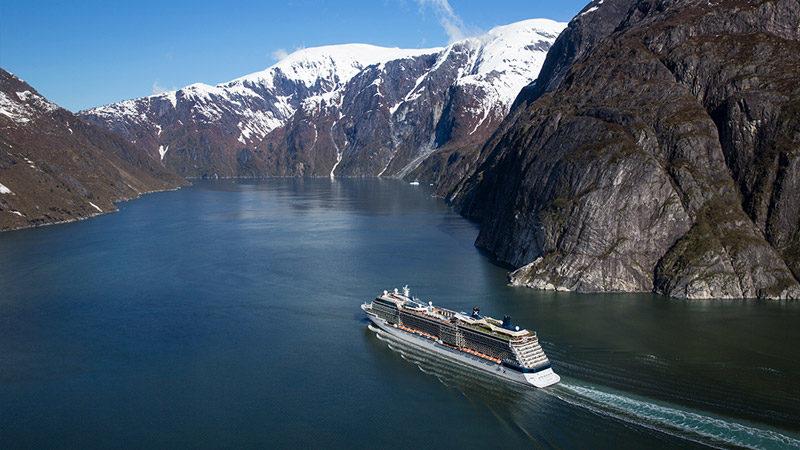 Celebrity Solstice in Tracy Arm Fjord Alaska
